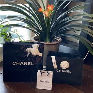 🕶 Chanel Shopping Gift Bags x 3